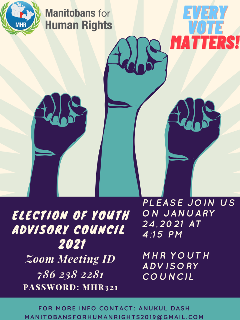 Election of Youth Advisory Council 2021